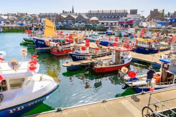 Peterhead harbour, Aberdeenshire